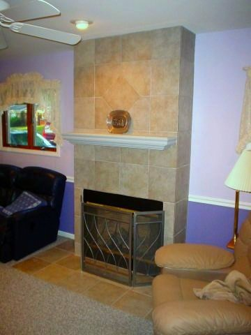 12x12 Ceramic  Fireplace